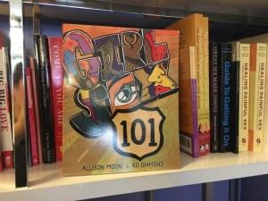 Girl Sex 101 book on bookshelf
