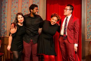 Jillian Ebanks and fellow Urban Twist comedians Shadee Vossoughi, Trumane Alston and Steve Han