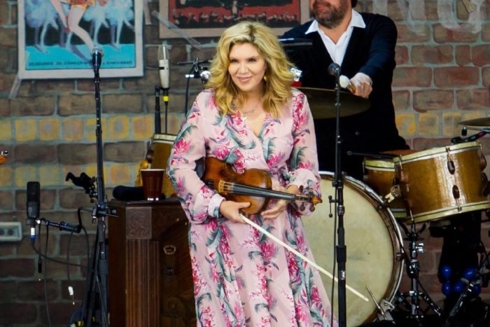 Alison Krauss performing at the Outlaw Music Festival in Tinley Park on June 28, 2019