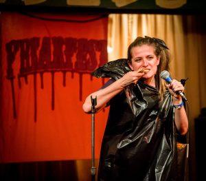 Stephanie Weber comedian doing standup