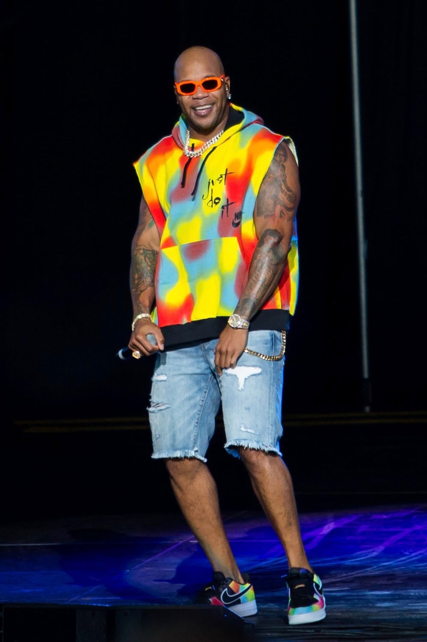 Flo Rida performs at the Hollywood Casino Amphitheatre in Tinley Park on Aug. 18, 2019.