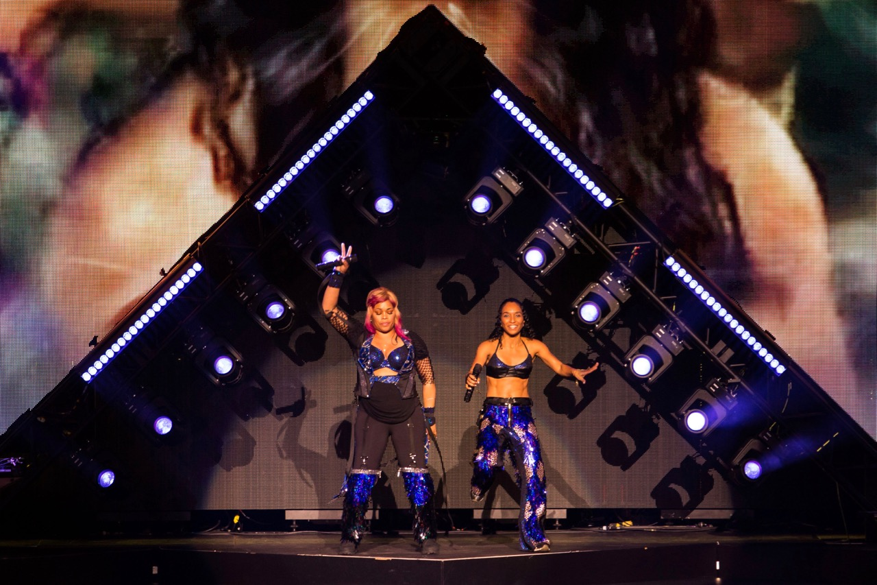 TLC performs at the Hollywood Casino Amphitheatre in Tinley Park on Aug. 18, 2019.