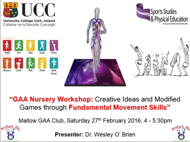 GAA Nursery Workshop UCC Cork