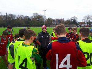 Kieran Kingston coaching the Cork regional U16 players at the 2017 Benchmarking Conference in Pairc Ui Chaoimh Cork