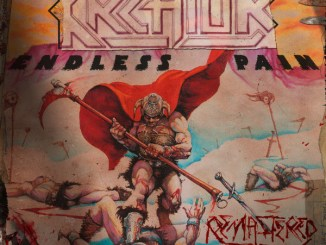 Kreator - remastered album cover to their first album, Endless Pain