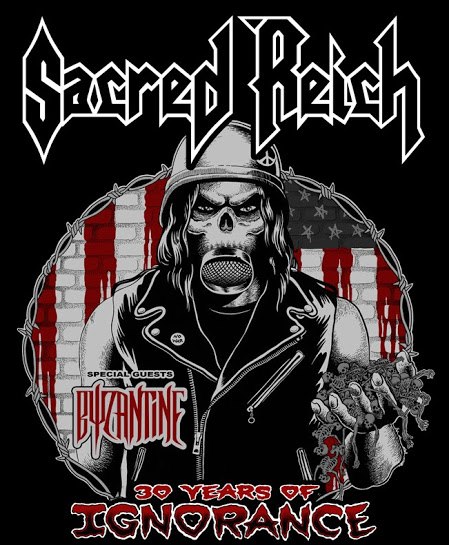 Sacred Reich concert poster