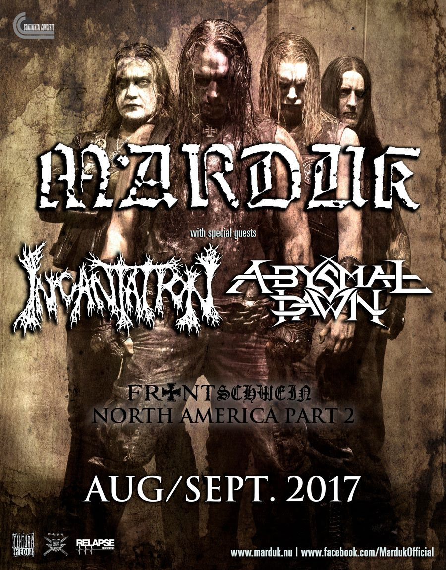 Marduk concert poster with Incantation and Abysmal Dawn