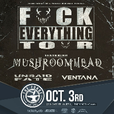 "Mushroomhead ""Fuck Everything"" tour poster"
