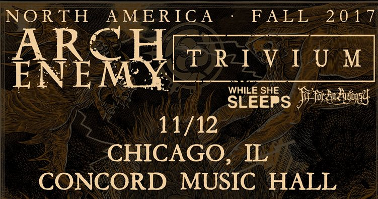 Arch Enemy concert promo