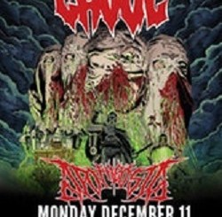 Ghoul with Apotheosis at Reggies, Monday, December 11, 2017