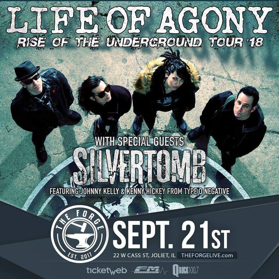 Life of Agony and Silvertomb at The Forge in Joliet, Friday, September 21, 2018