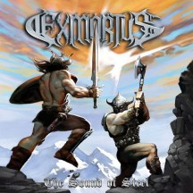 "Exmortus album cover for ""The Sound of Steel"""