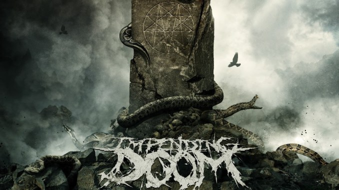 """Impending Doom LP cover for """"The Wretched and Godless"""""""