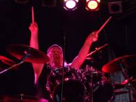 Scott Davidson playing drums