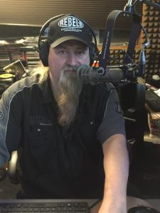 Scott Davidson in the Rebel Radio Studio