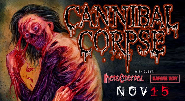 Cannibal Corpse at Castle Theatre Thursday, November 15, 2018