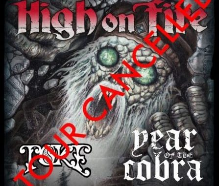 High On Fire cancels Electric Messiah Tour 2019 due to medical emergency