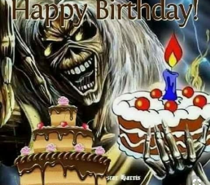 Happy Birthday Scott Davidson, 2019 - Iron Maiden's Eddy