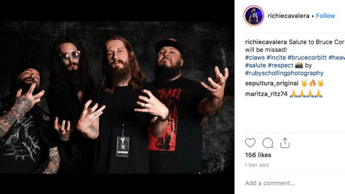 Richie Cavalera sends his condolences to Bruce Corbitt on his instagram