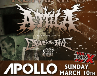 All That Remains at The Apollo Theatre AC on Sunday, March 10, 2019