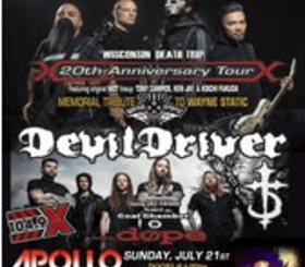 Static-X with DevilDriver and Dope @The Apollo Theatre, Sunday, July 21, 2019