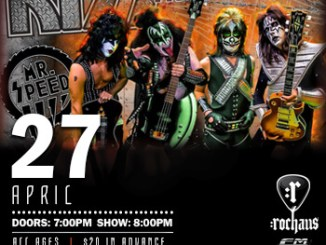 Mr. Speed (KISS Tribute band) will play at Rochaus Saturday, April 27, 2019
