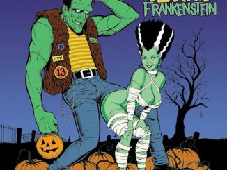 Electric Frankenstein, How To Make A Monster, showing wife of Frankenstein bending over for the monster of Frankenstein (relatively clean)