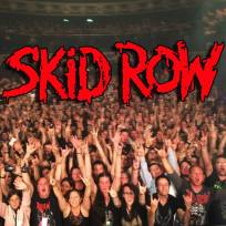 Skid Row across the top of a concert crowd