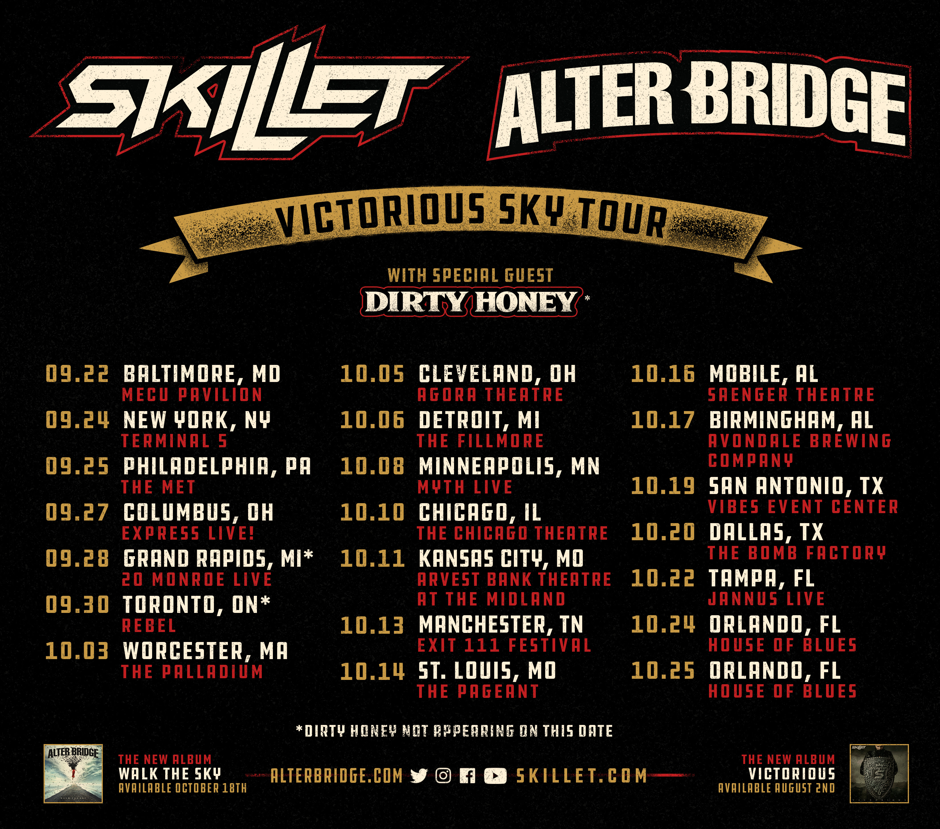 Skillet coming to the Chicago Theatre on Thursday, October 10, 2019
