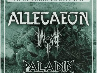 "Allegaeon headlines the ""Apoptosis Tour Pt II"" across the USA with Inferi and Paladin."