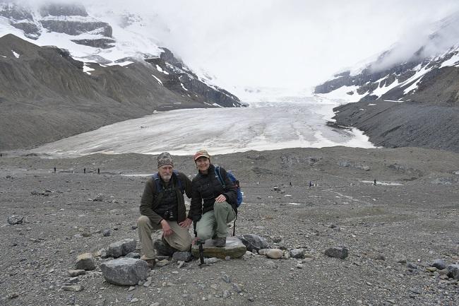 David, Marlene Athabasca Glacier - Rebel Retirement