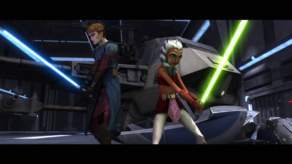 Anakin and Ahsoka - Clone Wars
