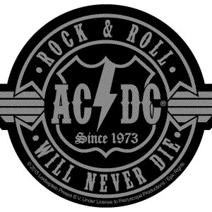 Нашивка AC/DC Rock 'N Roll Will Never Die