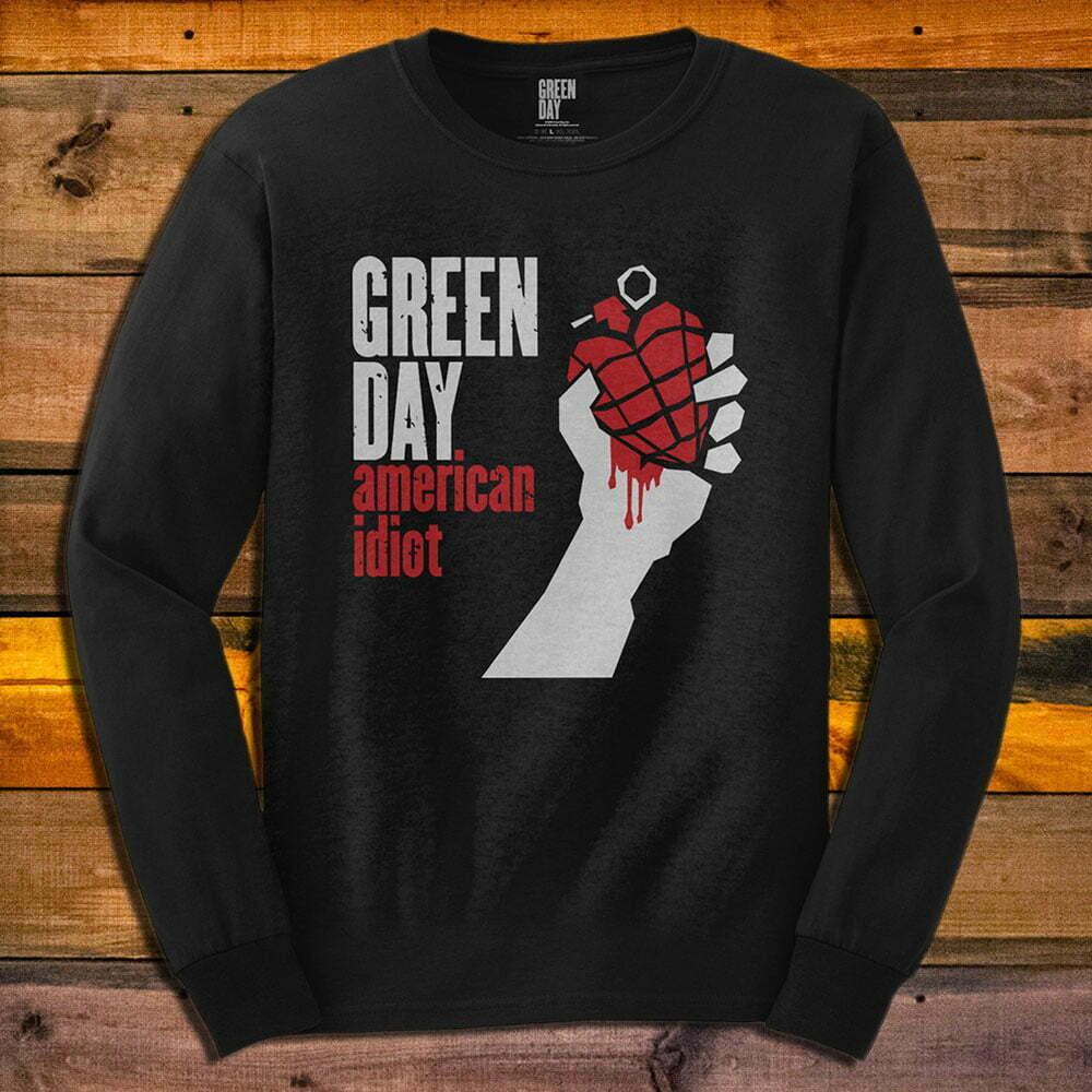 Тениска с дълъг ръкав Green Day American Idiot