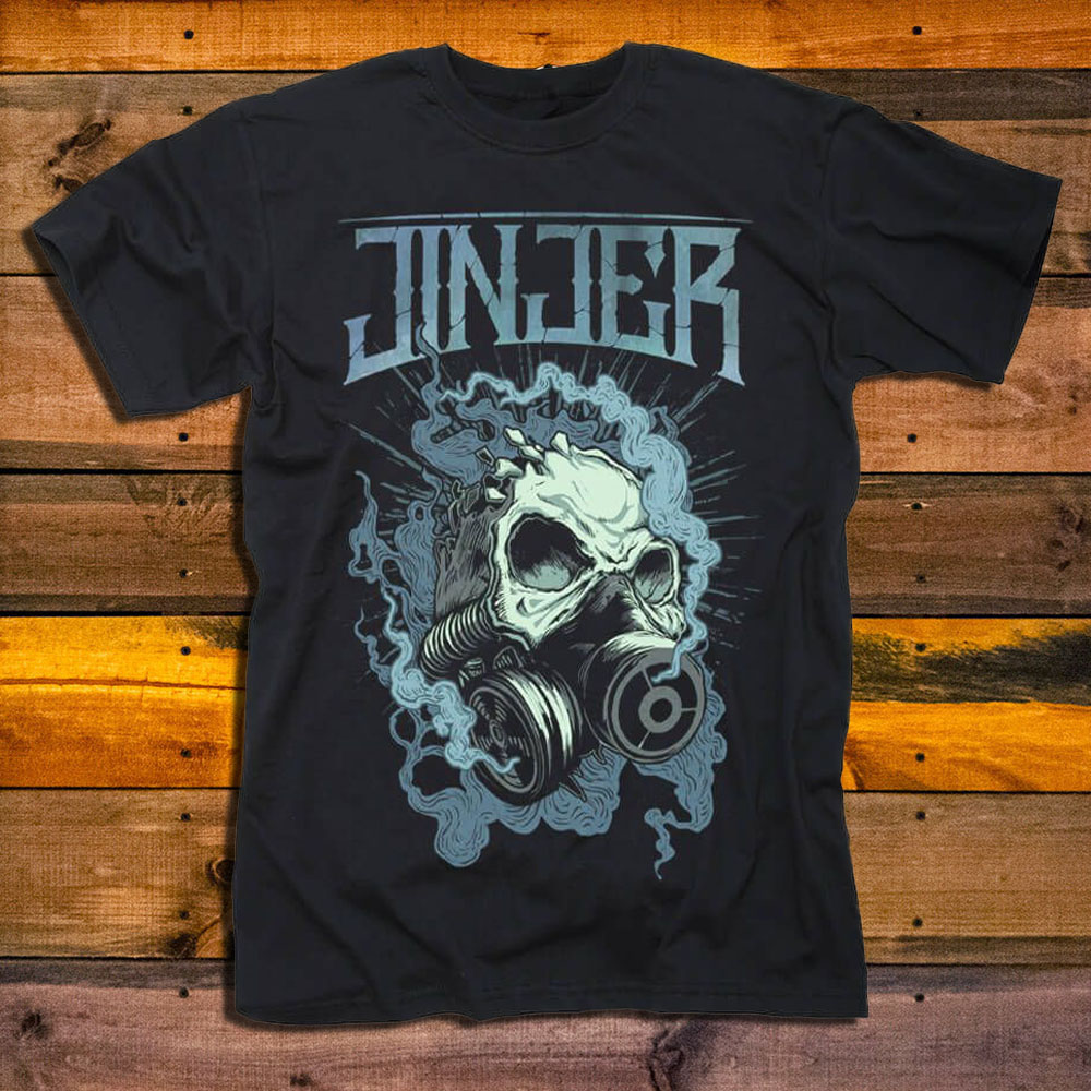 Тениска Jinjer Gasmask Skull