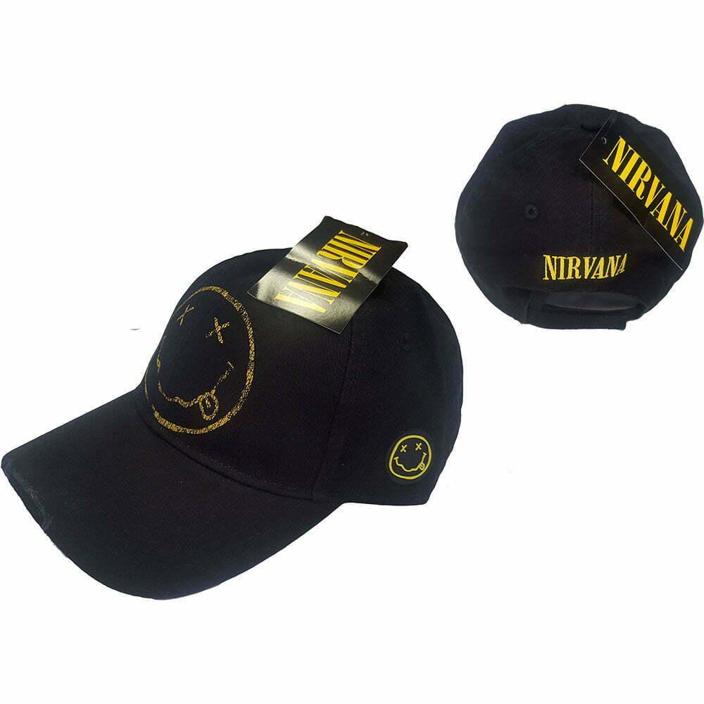 Шапка с козирка Nirvana Smiley