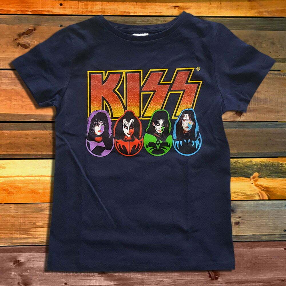 Детска Тениска KISS Logo & Faces