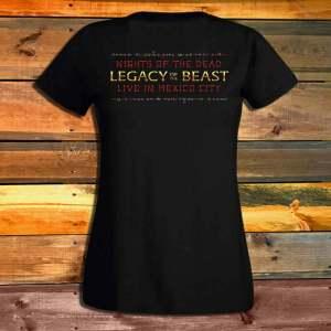 Дамска Тениска Iron Maiden Legacy Of The Beast Skulls гръб