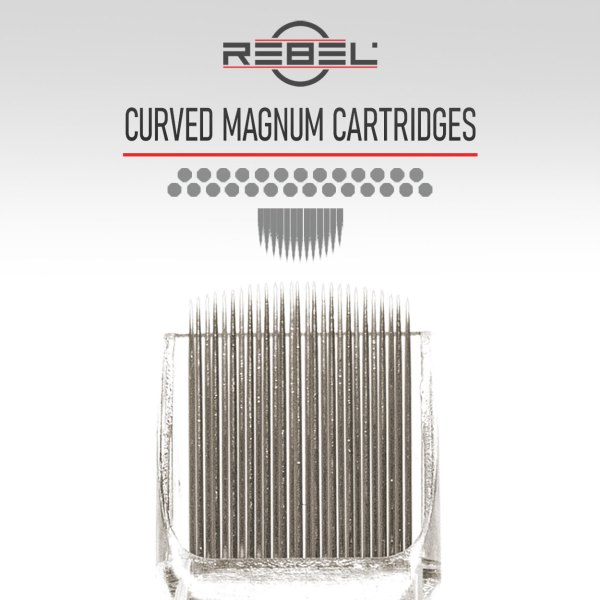 Curved magnum needles - Precision tattoo cartridge configurations - Tattoo Equipment - REBEL