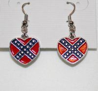 Rebel Yell Confederate Flag Jewelry: Heart Necklace ...