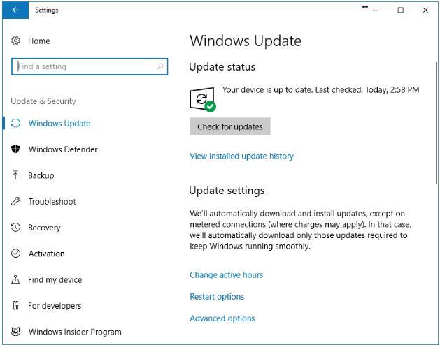 Windows Updated