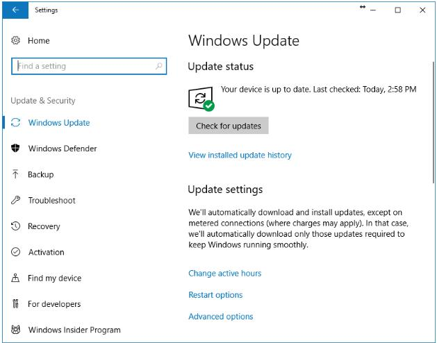 Windows Updated