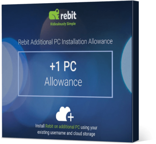 Rebit Extra pc-installatietoeslag Product 3D
