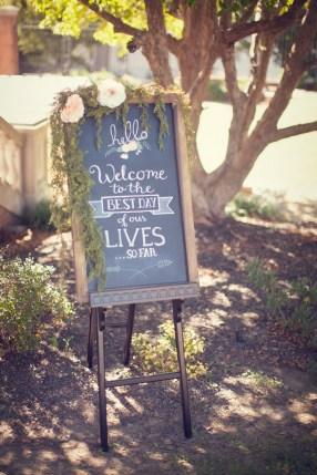 Custom Chalkboard Design For The Mullins' Wedding