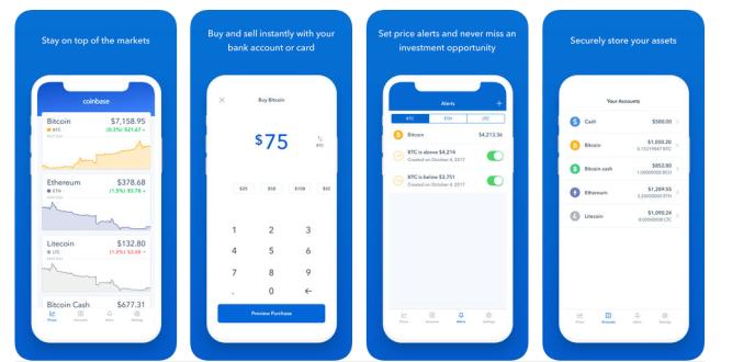 Coinbase iOS App