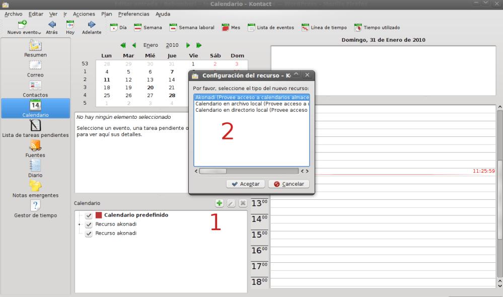 Sincroniza los calendarios de Google con Kontact (Korganizer) (2/4)