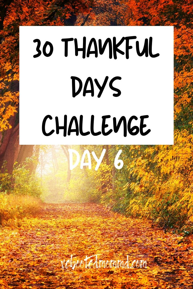 Day 6: Thankful for the Change of Seasons