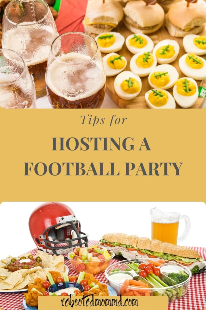 hosting a party football