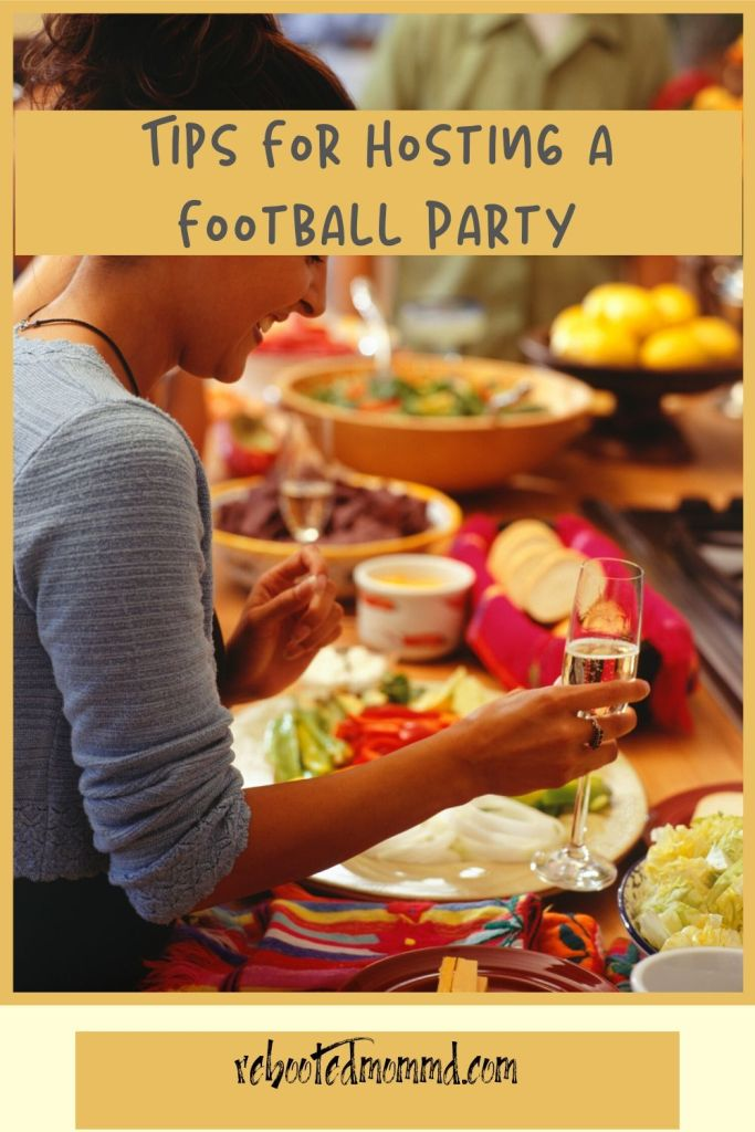 hosting a poarty football