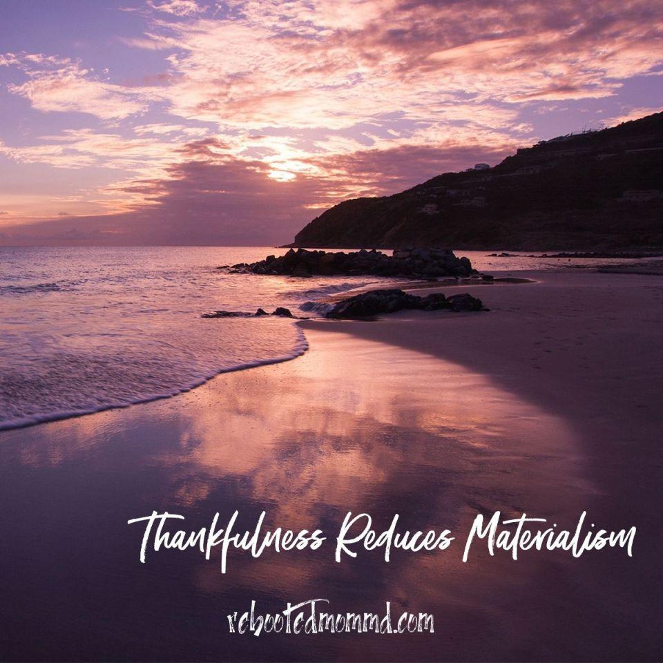 gratitude materialism